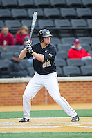 Will Craig (22) of the Wake Forest Demon Deacons at bat against the Florida State Seminoles at Wake Forest Baseball Park on April 19, 2014 in Winston-Salem, North Carolina.  The Seminoles defeated the Demon Deacons 4-3 in 13 innings.  (Brian Westerholt/Four Seam Images)