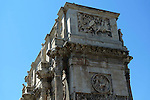The Arch of Constantine detail  in the Monti district of Rome.