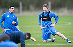 St Johnstone Training…..21.10.16<br />Blair Alston pictured during training ahead of Sunday's game against local rivals Dundee with Joe Shaughnessy<br />Picture by Graeme Hart.<br />Copyright Perthshire Picture Agency<br />Tel: 01738 623350  Mobile: 07990 594431