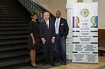 Organizers of African American National Spelling Bee Championships pose with State Representative Gary Elkins.