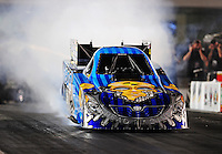 Sept. 17, 2010; Concord, NC, USA; NHRA funny car driver Jim Head does a burnout during qualifying for the O'Reilly Auto Parts NHRA Nationals at zMax Dragway. Mandatory Credit: Mark J. Rebilas/