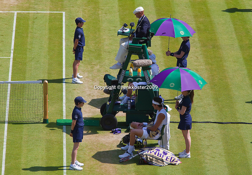 25-6-09, England, London, Wimbledon, Changeover
