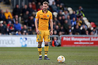 Mickey Demetriou of Newport County lines up to take a free kick during the Sky Bet League Two match between Newport County and Yeovil Town at Rodney Parade, Newport, Wales, UK. 14 April 2017