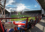 Rangers fans getting ready for the match at Tynecastle Stadium