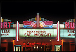 Rocky Horror Picture Show on the marquee of the Nuart Theater West L.A.