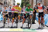 11th July 2021, Ceret, Pyrénées-Orientales, France; Tour de France cycling tour, stage 15, Ceret to  Andorre-La-Vieille;  VINGEGAARD Jonas (DEN) of JUMBO-VISMA; POGACAR Tadej (SLO) of UAE TEAM EMIRATES, CAVENDISH Mark (GBR) of DECEUNINCK - QUICK-STEP, MOLLEMA Bauke (NED) of TREK - SEGAFREDO  during stage 15 of the 108th edition of the 2021 Tour de France cycling race, a stage of 191,3 kms between Ceret and Andorre-La-Vieille