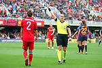 UEFA Women's Champions League 2018/2019.<br /> Semi Finals<br /> FC Barcelona vs FC Bayern Munchen: 1-0.<br /> Gina Lewandowski & Esther Staubli.