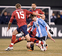 Lionel Messi, Michael Bradley, Jay DeMerit. The USMNT tied Argentina, 1-1, at the New Meadowlands Stadium in East Rutherford, NJ.