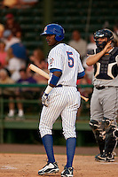 April 26 2010: Junior Lake (5) of the Daytona Beach Cubs during a game vs. the Lakeland Flying Tigers at Jackie Robinson Ballpark in Daytona Beach, Florida. Daytona, the Florida State League High-A affiliate of the Chicago Cubs, won the game against Lakeland, affiliate of the Detroit Tigers, by the score of 3-1  Photo By Scott Jontes/Four Seam Images