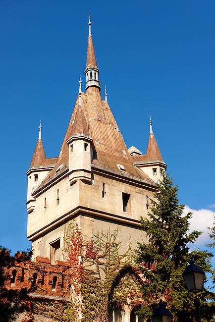 Vajdahunyad castle ( Vajdahunyad-vár) part of the millennial exhibition in 1896  in the city park.