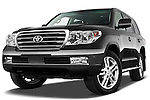 Passenger Side Dashboard View of 2011 Toyota Land Cruiser V8 VX SUV Stock Photo