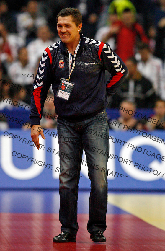 Serbian national handball team head coach Veselin Vukovic during men`s EHF EURO 2012 championship semifinal handball game between Serbia and Croatia in Belgrade, Serbia, Friday, January 27, 2011.  (photo: Pedja Milosavljevic / thepedja@gmail.com / +381641260959)