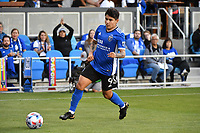 SAN JOSE, CA - JUNE 26: Eduardo Lopez #9 of the San Jose Earthquakes during a game between Los Angeles Galaxy and San Jose Earthquakes at PayPal Park on June 26, 2021 in San Jose, California.