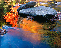 Fall color and reflections along the Swift River; White Mountains National Forest, NH