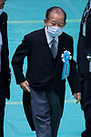 Japan's Secretary-General of Liberal Democratic Party, Toshihiro Nikai wearing face masks attends the memorial service for the war dead of World War II marking the 75th anniversary in Tokyo, Japan on August 15, 2020. (Photo by AFLO)