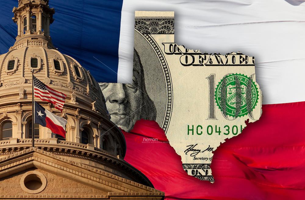 Texas Budget Crisis Illustration Collage