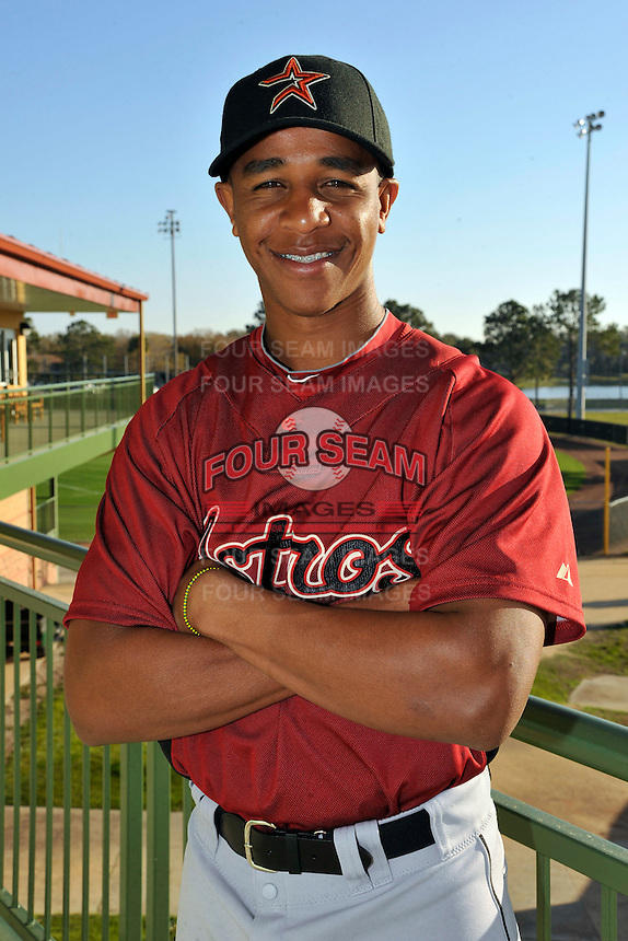 Feb 25, 2010; Kissimmee, FL, USA; The Houston Astros outfielder Wladimir Sutil (71) during photoday at Osceola County Stadium. Mandatory Credit: Tomasso De Rosa / FOUR SEAM IMAGES