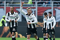 Jens Stryger Larsen of Udinese Calcio celebrates after scoring the goal of 0-1 <br /> Milano 19/01/2020 Stadio Giuseppe Meazza <br /> Football Serie A 2019/2020 <br /> AC Milan - Udinese Calcio <br /> Photo Image Sport / Insidefoto