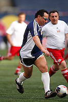 Former NY Cosmos player Andranik Eskandarian, father of Alecko Eskandarian (not pictured) during a celebrity game prior to the New York Red Bulls season opener. The New York Red Bulls defeated the Columbus Crew 2-0 during a Major League Soccer match at Giants Stadium in East Rutherford, NJ, on April 5, 2008.