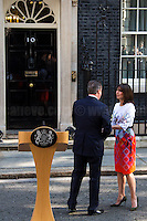 David Cameron (British Prime Minister) and his wife Samantha.<br />