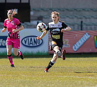 Tiana Andries (11) of Eendracht Aalst pictured during a female soccer game between Eendracht Aalst and Sporting Charleroi on the third matchday of play off 2 of the 2020 - 2021 season of Belgian Scooore Womens Super League , Saturday 24 th of April 2021  in Aalst , Belgium . PHOTO SPORTPIX.BE | SPP | KRISTOF DE MOOR
