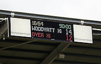 Pictured: Final score, Team Woodyatt 14, Team Dyer 12. Sunday, 01 June 2014<br /> Re: Celebrities v Celebrities football game organised by Sellebrity Scoccer, in aid of Swansea City Community Trust, at the Liberty Stadium, south Wales.