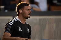SAN JOSE, CA - JULY 24: Guido Bonini Assistant Coach of the San Jose Earthquakes watches the play during a game between San Jose Earthquakes and Houston Dynamo at PayPal Park on July 24, 2021 in San Jose, California.