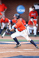 Tyler Cannon of the Virginia Cavaliers playing in Game Two of the NCAA Super Regional tournament against the Oklahoma Sooners at Charlottesville, VA - 06/13/2010. Oklahoma defeated Virginia, 10-7, to tie the series after two games.  Photo By Bill Mitchell / Four Seam Images