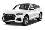 2021 Audi Q5-Sportback Premium 5 Door SUV Angular Front automotive stock photos of front three quarter view