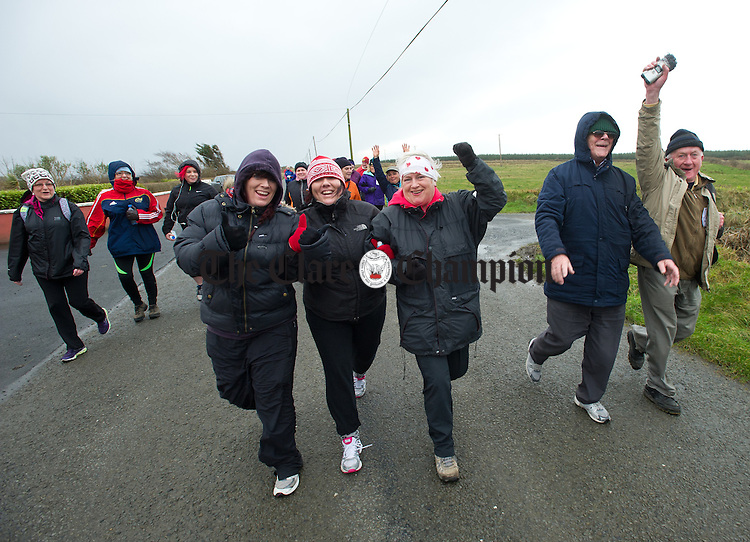 Walkers in good spirits during the West Clare Mini Marathon from Carrigaholt to Kilkee. Photograph by John Kelly.