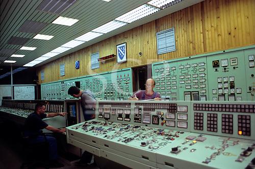 Bosnia and Herzegovina. Termoelektrana - Kakanj/Elektroprivreda BiH; men working in the control room.