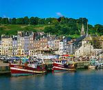 Frankreich, Normandie, Département Calvados, Honfleur: Stadt und Hafen | France, Normandy, Département Calvados, Honfleur: Harbour and Town