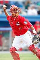 July 24, 2009:  Catcher Ivan Castro of the Batavia Muckdogs during a game at Dwyer Stadium in Batavia, NY.  The Muckdogs are the NY-Penn League Short-Season Class-A affiliate of the St. Louis Cardinals.  Photo By Mike Janes/Four Seam Images