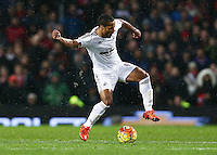 Wayne Routledge of Swansea City during the Barclays Premier League match between Manchester United and Swansea City played at Old Trafford, Manchester on January 2nd 2016