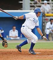 July 22, 2009: Catcher Fernando Cruz (16) of the Burlington Royals, rookie Appalachian League affiliate of the Kansas City Royals, in a game at Burlington Athletic Stadium in Burlington, N.C. Photo by: Tom Priddy/Four Seam Images
