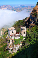 Torretta Pepoli, picturesque castle, Erice, Sicily , colour photo.