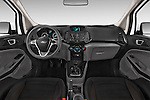 Stock photo of straight dashboard view of a 2015 Ford ECOSPORT TITANIUM 5 Door SUV Dashboard
