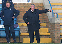 Gillingham Manager, Steve Evans and his assistant, Paul Raynor during Gillingham vs Exeter City, Emirates FA Cup Football at the MEMS Priestfield Stadium on 28th November 2020