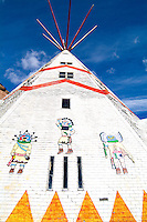 Teepee asrtwork in New Mexico in western US