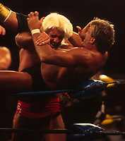 Paul Orrndorff  & Ric Flair 1992<br /> Photo By John Barrett/PHOTOlink