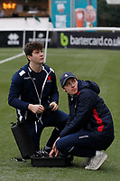 London Scottish staff seen during the Greene King IPA Championship match between Ealing Trailfinders and London Scottish Football Club at Castle Bar , West Ealing , England  on 19 January 2019. Photo by Carlton Myrie/PRiME Media Images