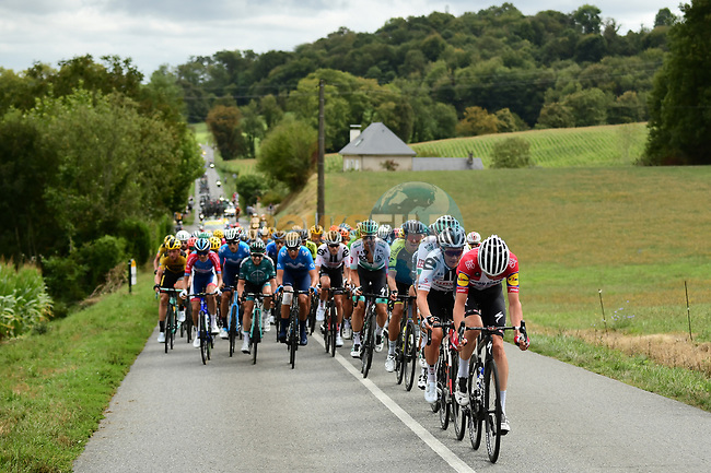 A hectic start to Stage 9 of Tour de France 2020, running 153km from Pau to Laruns, France. 6th September 2020. <br /> Picture: ASO/Alex Broadway | Cyclefile<br /> All photos usage must carry mandatory copyright credit (© Cyclefile | ASO/Alex Broadway)