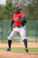 March 22nd 2008:  Deunte Heath of the Atlanta Braves minor league system during a Spring Training camp day at Disney's Wide World of Sports in Orlando, FL.  Photo by:  Mike Janes/Four Seam Images