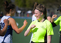 2020 Lower North Island Secondary Schools Hockey Girls Premiership tournament 3rd place playoff between Napier Girls' High School and Palmerston North Girls' High School at Fitzherbert Park Twin Turfs in Palmerston North, New Zealand on Friday, 4 September 2020. Photo: Dave Lintott / lintottphoto.co.nz