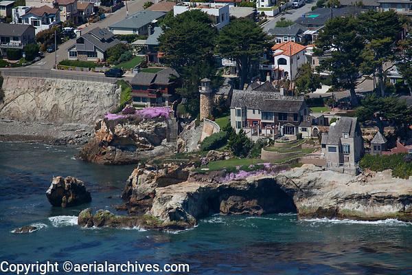 aerial photograph of the Chapman Estate, 1243 Ocean Boulevard  Shell Beach, San Luis Obispo County, California