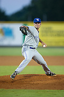 Bluefield Blue Jays relief pitcher Christian Cox (15) in action against the Burlington Royals at Burlington Athletic Stadium on June 28, 2016 in Burlington, North Carolina.  The Royals defeated the Blue Jays 4-0.  (Brian Westerholt/Four Seam Images)