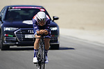 Matteo Moschetti (ITA) Trek-Segafredo during Stage 2 of the 2021 UAE Tour an individual time trial running 13km around  Al Hudayriyat Island, Abu Dhabi, UAE. 22nd February 2021.  <br /> Picture: Eoin Clarke | Cyclefile<br /> <br /> All photos usage must carry mandatory copyright credit (© Cyclefile | Eoin Clarke)