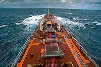 Navio petroleiro no litoral do Rio Grande do Sul. 2014.Foto de Renata Mello.