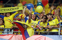 Ecuador fans celebrate their victory over Costa Rica in Hamburg, Germany, Thursday, June 15, 2006.