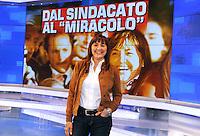 Renata Polverini.Roma 01/04/2010 .Rai Porta a Porta.Foto Gb / Insidefoto